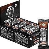 Vegan Protein Riegel 12 x 65 g – Vegan Protein Bar Double Chocolate – Eiweißriegel 3K mit 18 g Protein pro Bar - nur 1 g Zucker je Riegel – ohne Soja, Sucralose & Gluten – nu3
