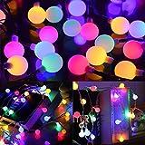 SYTUAM Solar Lichterkette Außen 12M 100er LED,Bunt LED Lichterkette mit Lichtsensor 8 Modi IP65 Wasserdicht, ideale Partylichterkette Lichterkette Außen für Garten,Bäume,Party,Weihnachts deko