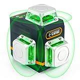 CIGMAN Kreuzlinienlaser Grün Selbstnivellierend 3x360 Grad, Kreuzlaser Linienlaser bis zu 40 Stunden Arbeitszeit mit wiederaufladbarer Lithium-Batterie für Innen- und Außenbereich, CM701