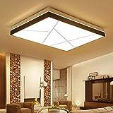 MCLJR Moderne Deckenleuchte LED-Platz Wohnzimmer Lampe dimmbar mit Fernbedienung, Schlafzimmer Deckenleuchte, Hallenbeleuchtung, Studie Deckenleuchte-95 * 64cm-90W