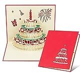 Habett Grußkarten Geburtstag 3D Pop Up Geburtstagskarte Lückwunschkarte Grußkarte mit Schönen Papier-Cut Umschlag Enthalten Geschenk für Ihre Verwandten Freunde und Liebhaber Special Happy Birthday