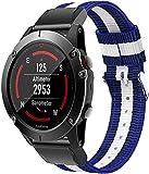 Nylon Quick Release Ersatz Uhrenarmband kompatibel mit Garmin Approach S60 / Approach S62, Uhrenband für Damen und Herren   Mehrere Farben (Pattern 7)