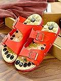 Cxcdxd FLHLF Anti-Rutsch-Gummisohle, Pediküre-Schuhe mit Kopfsteinpflastersohle, Sandalen und Hausschuhe für Männer und Frauen, rutschfeste Strandschuhe mit weichem Boden, Strandpool-Sandalen
