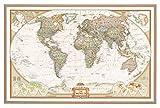 Weltkarte auf Kork-Pinnwand, mit 100 Nadeln, englisch, 90x60cm, National Geographic