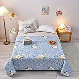 AZSOGOOD Sommer-Quilt Exquisite Gewaschene Baumwollbetten, alle Größen Einzel- und Doppel-, Weiche und komfortable, klimatisierte Steppdecke-K_150 * 200 cm.