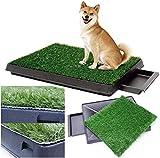 Sailnovo Hundeklo Hundetoilette Welpentoilette mit Kunstrasen, 63x50cm Hunde Toilette Welpenklo Haustiertoilette Trainingsunterlage für Haustiere für Kleine Grosse ältere Hunde Tier WC