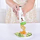 Gemüse-Spiralschneider, Hand-Gemüsereibe mit 2 austauschbaren Klingen für Zucchini, Pasta, Nudeln.
