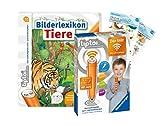 tiptoi Ravensburger Set: Bilderlexikon Tiere (Kinderbuch) + 00036 Der Stift - WLAN-Edition + 2X Create-Sticker