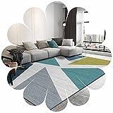 Bereich Teppich Geometrische Muster Nordic Style Mosaik Moderne Hand Geschnitzt Moderner Bodenteppich Mit Premium-flaumig Textur Für Innen-wohn-esszimmer Und Schlafzimmer(Size:80cm×120cm,Color:R2)