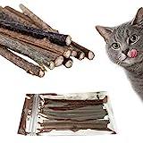 TOMMY LAMBERT 10x Katzenminze Sticks für Katzen Zahnpflege Kausticks aus echtem Matatabi Holz helfen spielerisch bei Mundgeruch & Zahnstein I Katzenspielzeug mit Katzenminze