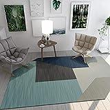 SN HUIPENG Runder großer Teppich Modern Geometrische Bereich Teppiche Wohnzimmer Schlafzimmer Unregelmäßig Oval Waschbar Rutschfest Nicht Fusseln Teppich Home Decor 200 x 300 cm