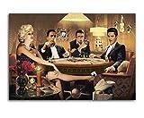 Marilyn Monroe James Dean Kunstdruck auf Leinwand, Elvis Presley Humphrey Bogut, Wandkunst, Bild für Zuhause, Wohnzimmer, Dekoration, Malerei, Wandbild (30 x 50 cm), ohne Rahmen