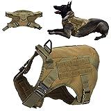 CUTULAMO Haustierbedarf, Pet Military Chest Back Velvet Harness Fine Workship Army Green Hundeweste für große und mittelgroße Hunde(XL Code)