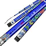 NYKK Angelrute Ultraharten Ultraleichte Angel, Fliegen Rod, Tilapia Rod, Hand Rod 19-Ton-8H, einzigartige Blaue Chinese Retro Muster Aussehen Fliegenfischer Rod & Reel Combos (Größe : 3.9M)