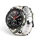 Amazfit Smartwatch Herren T-Rex 1,3 Zoll Outdoor Digitale Uhr wasserdichte Sportuhr mit militärischem Qualitätsstandard, GPS, Schlafmonitor, 14 Sportmodi für Damen Herren, Camo Grün