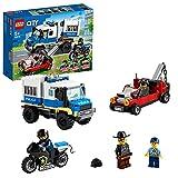LEGO 60276 City Polizei Gefangenentransporter, Spielzeug-Set mit Motorrad und LKW, Erweiterungsset zur Polizeistation, für Kinder ab 5 Jahre