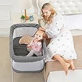zcyg Reisebett Kinderbett Babybett Kinderbett, Tragbares Multifunktionales Kinderbett-Bett Atmungsaktives Neugeborenes Klappreisbett