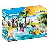 PLAYMOBIL Family Fun 70610 Spaßbecken mit Wasserspritze, Zum Bespielen mit Wasser, Ab 4 J