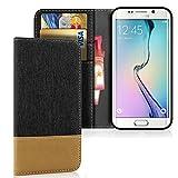 Buch Case mit Kartenfach für Samsung Galaxy S6 | Schwarz | Kunstleder und TPU |