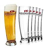 Störtebeker Weizenbiergläser 0,5 l | 6 Weizengläser im Sydney Segelglas Design | Weissbiergläser 0,5l | Störtebeker Gläser als tolles Bier Geschenk