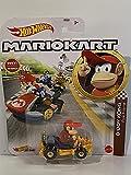 Hot-Wheels - Mario Kart Figur DIDDY KONG - Metall-Fahrzeug im Maßstab 1:64, Spielzeugauto für Kinder 3 + Jahre,