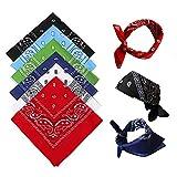 NETUME Bandana Kopftuch für Damen Herren 6 Stück, Baumwolle Paisley Halstuch Kopf Schal, Square Nickituch Bandana Tuch für Motorad Biker - auch als Taschentuch
