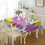 CYYyang Tischdecke Tischdecke Lotuseffekt Tischtücher Verdickter farbig bedruckter Stoff