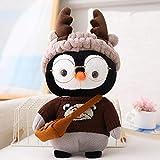 Cartoon Schöne Pinguin Cosplay Dress Up Mit Brille Plüschtiere 30Cm,Weiche Kuscheltiere Puppe Weiche Babykissen Für Kinder Mädchen Geburtstagsgeschenk