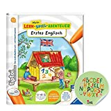 Collectix Ravensburger tiptoi ® Buch Mein Lern-Spiel-Abenteuer | Erstes Englisch + ABC Buchstaben Kinder Sticker Schule, Zahlen