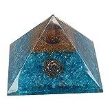 M K Cosmics Turquoise orgone Pyramid Energy Points/EMF Protection Meditation Yoga Energy Generator (70mm to 75mm)