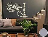 Klebefieber Wandtattoo Shisha-Bar B x H: 150cm x 113cm Farbe: Silber