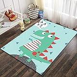 SunYe 58D Gedruckte Teppich Kinderzimmer Kriechen Cartoon Fußmatten Schlafzimmer Couchtisch Voller Großer Teppich rutschfest Verschleißfest
