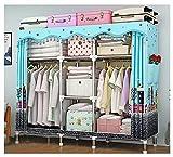 LJWLZFVT Kleiderschrank einfach aus hochwertigen Stoffen Faltschränken Stoffschränken Möbeln Schlafzimmerschränken für platzsparende ideale Aufbewahrung(Size:170X45X170CM,Color:B.)