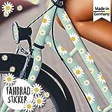Wandtattoo Loft Fahrradaufkleber 64 STK. Gänseblümchen Blüten Blumen Fahrrad Sticker Fahrraddesig