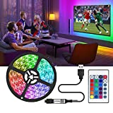 RGB LED Strip 2M, LED TV Streifen, USB LED TV Hintergrundbeleuchtung, LED TV Backlight für Schlafzimmer mit Fernbedienung, Suitable for 40-60 inch TV and PC, Controllable via Remote Control 16 Farben