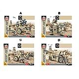 Trueornot Soldat Figuren Modell, 4 Stück Soldat Figur Spielzeug Actionfigur, Zweiter Weltkrieg Nordafrika Schlachtfeld Tunesische Soldaten Set Model Kit