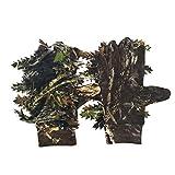 CUHAWUDBA Aussen Jagd 3D Ahorn Bl?Tter Bionic Tarnung Handschuhe Voll Finger rutschfeste Angel Handschuhe