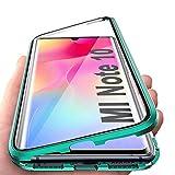 JoiCase Rundum Hülle für Xiaomi Mi Note 10 Note 10 Pro Magnetische Adsorption Handyhülle 360 Grad Schutzhülle Stark Magneten Aluminiumrahmen Gehärtetes Glas Stoßfest Metall Flip C