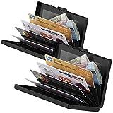 Xcase Kartenetui RFID-Schutz: 2er Pack Flaches RFID-Kartenetui aus Edelstahl für 6 Chipkarten, (Kartenetui Herren RFID)