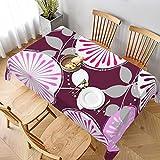 Dekorative Tischdecke, Tischwäsche, Tischdecke mit Blumenmuster, für Küche, Esszimmer