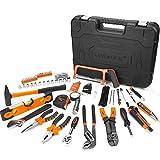 Werkzeugkoffer, V VONTOX 220-teilig Haushalts-Werkzeugkoffer,Werkzeug-Set, Reparatur Werkzeug Set Perfekt für den Haushalt oder die Garage mit Hammer, Messer, Steckschlüsselset