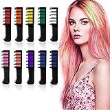 Haarkreide Kamm 10 Farben, LATTCURE Haarfarbe Kreide Kamm, Kinder Haarfärbemittel, Temporär Haarkreide instant Einmalige Haarekreide Kamm, waschbar und ungiftig