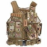 Docooler Militärische Taktik-Weste für Jagd Camping Wandern Kriegsspiel, Camouflage 2