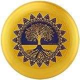 Eurodisc 175g Ultimate Frisbee Disc Wettkampf-Wurf-Scheibe Bio-Kunststoff stabile Flugbahn über 100 Meter, Design Motiv Foto Bild Tree of Life Gold nachhaltig aus nachwachsenden Rohstoffen