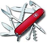 Victorinox Taschenmesser Huntsman (15 Funktionen, Schere, Holzsäge, Korkenzieher) rot