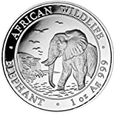 Silbermünze Somalia Elefant 2010 incl. Münzkapsel, 1 Unze, Differenzbesteuert nach § 25a UstG
