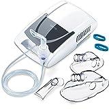 Sanitas SIH 21 Inhalator mit Kompressor-Drucklufttechnologie / Behandlung von Atemwegserkrankungen wie Erkältungen, Bronchitis / Inhaliergerät für Erwachsene und Kinder / Vernebler-Inhalation