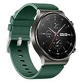 WSGGFA 22 mm Lederarmband für Huawei Watch GT 2 Pro, Armband für Huawei Gt2 Pro, Ersatzarmband (Farbe: Grün, Größe: für Huawei GT 2 Pro)