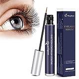 MayBeau Wimpernserum Augenbrauenserum mit Natürlichen Zutaten Eyelash Growth Serum für Stärkeres und Schnelles Wimpernwachstum Wimpern Booster für Mehr Länge Dichte Eyelash in 4-6 Wochen 5 ML