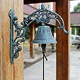 hmy LRW Europäische Klassik Retro Eisenglocke Gusseisen Türklingel Villa Vordere Glocke Wandbehang